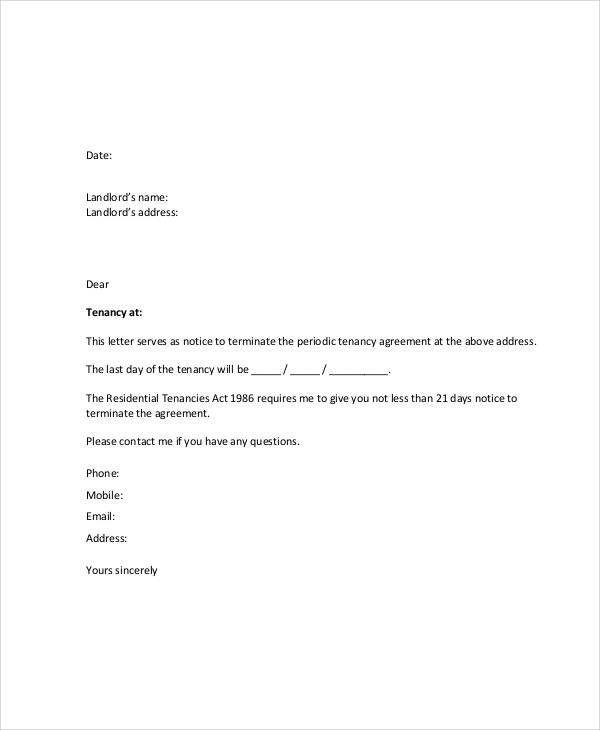 example lease termination letter