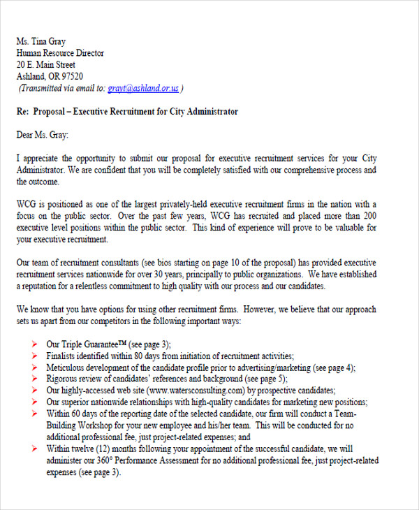 Free 35 Proposal Letter Format Samples In Pdf Ms Word Pages