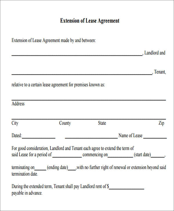 extension of lease agreement pdf