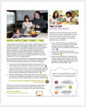 family-nutrition-newsletter-template