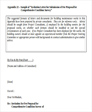 fee proposal letter in word