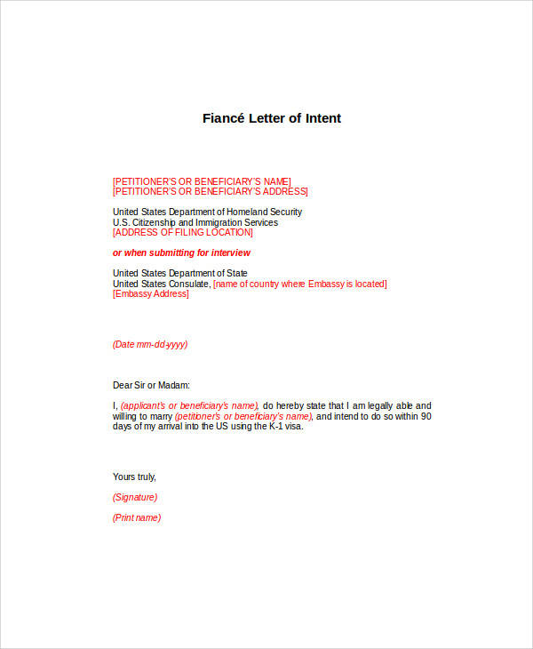 57 letter of intent examples pdf word pages google docs fiance letter of intent to marry spiritdancerdesigns Choice Image