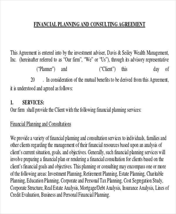 financial services consulting agreement1