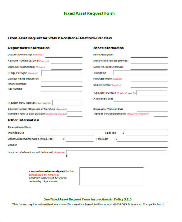 capital asset requisition template  40  Sample Requisition Forms in PDF | Sample Templates