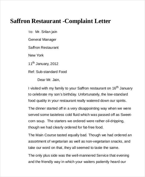 36 Complaint Letter Samples