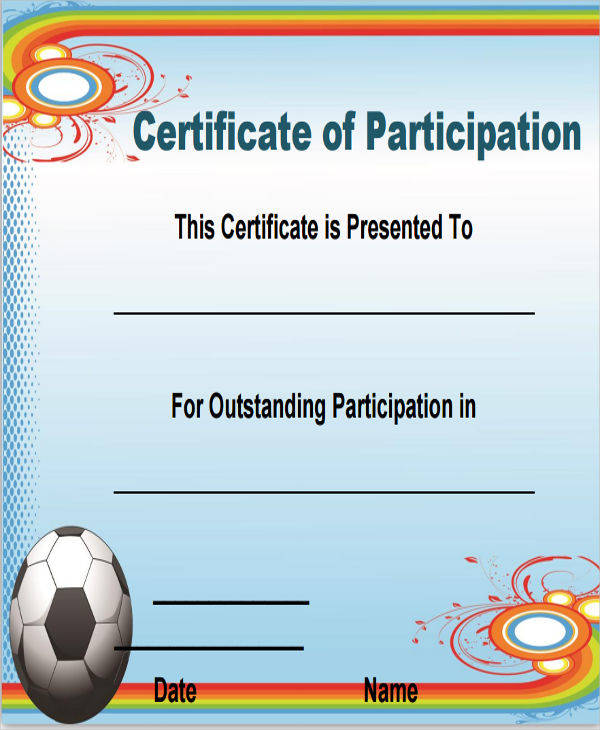 football certificate of participation1