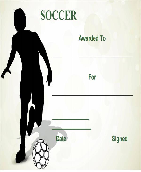 football fan certificate sample1
