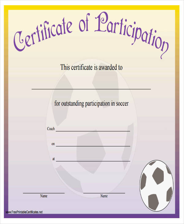 football participation certificate1
