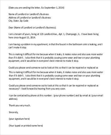 formal apartment complaint letter1