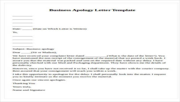 32 formal apology letters sample templates img a formal apology letter accmission Choice Image