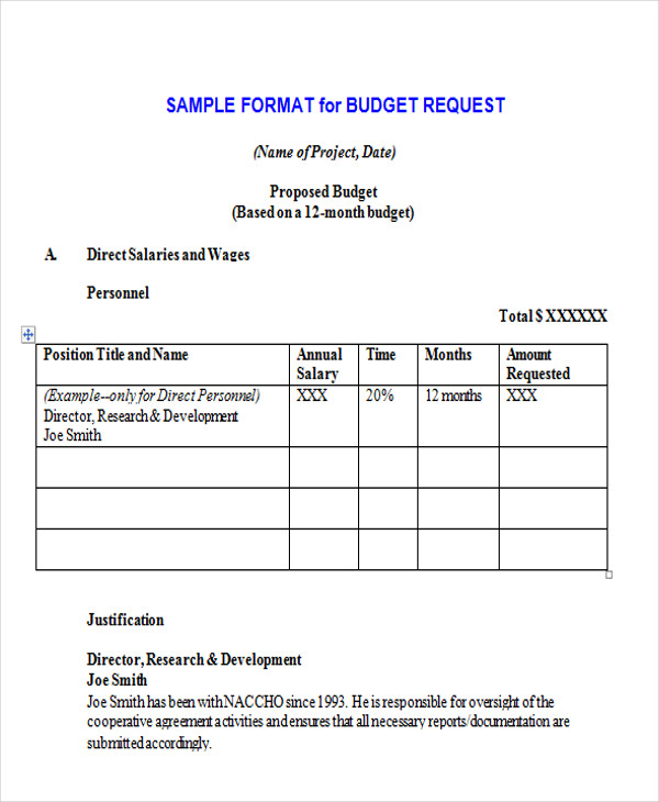 formal budget proposal template