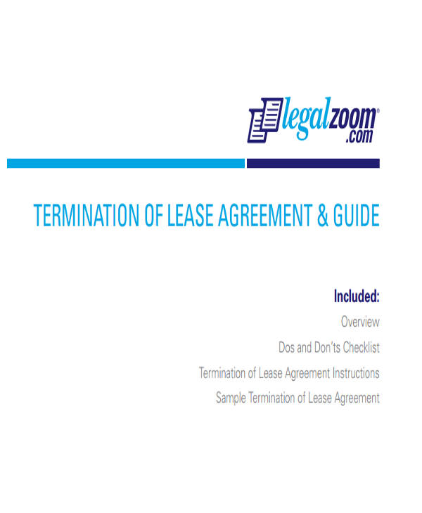 Commercial Lease Agreement – Commercial Lease Termination Agreement