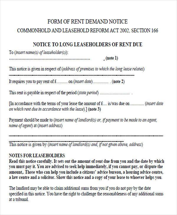 Free demand letters formal demand for rent letter spiritdancerdesigns Gallery