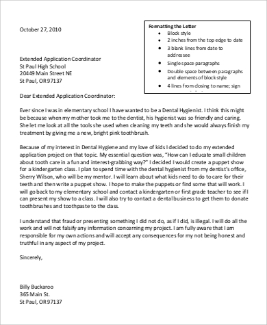 formal extended application project proposal letter