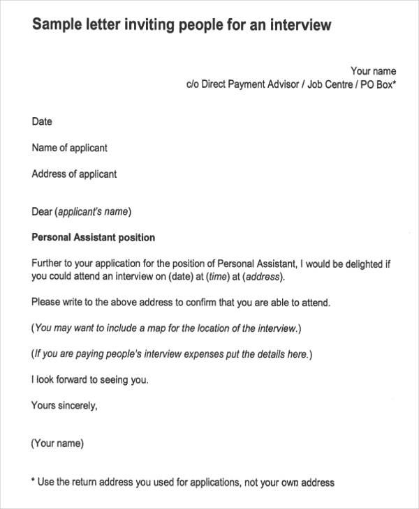formal interview invitation letter1