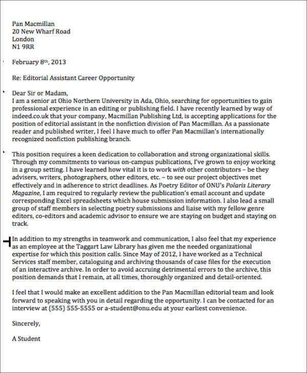 formal work letter format