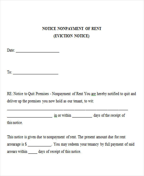 free blank eviction notice forms