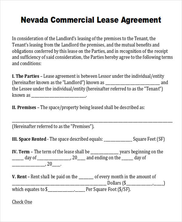 Commercial Agreement Example – Commercial Sublease Agreement
