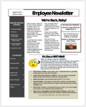 free-employee-newsletter-template