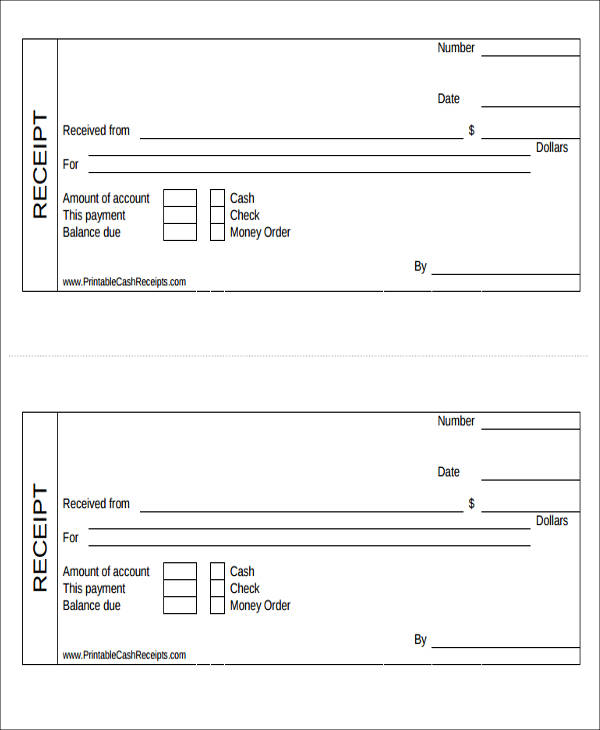 free printable bill payment receipt