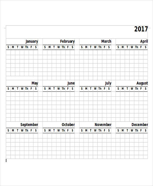 free printable blank yearly calendar