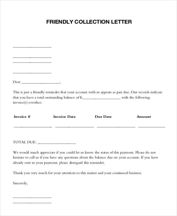 Collection Letter Examples