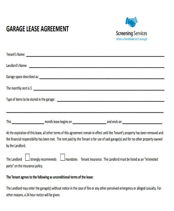 35  commercial lease agreement samples