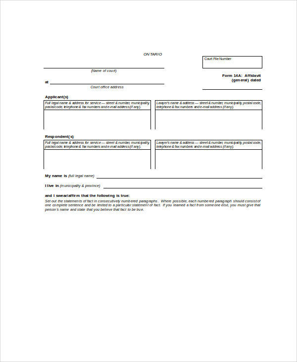 Statement Form In Doc Pictures