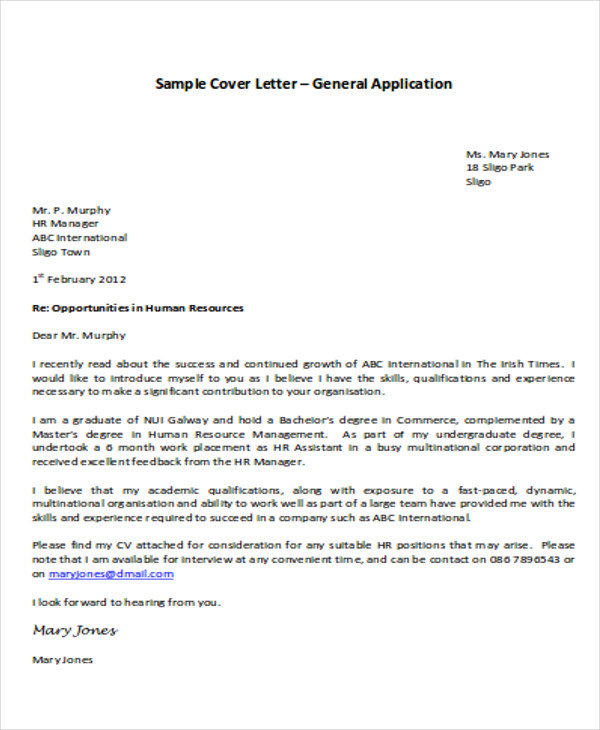 31+ Application Letter Samples & Templates - PDF, DOC