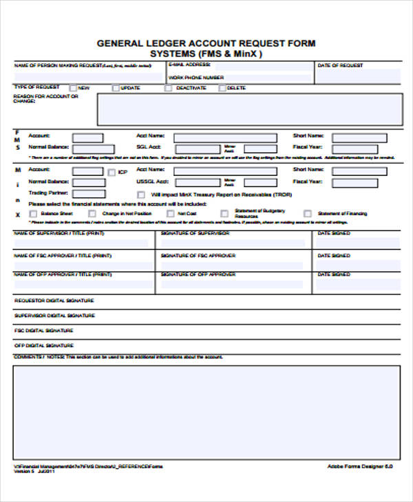 Ledger Form. General-Ledger-Template-1 7+ General Ledger Template