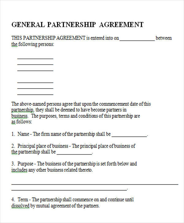 general partnership agreement form3