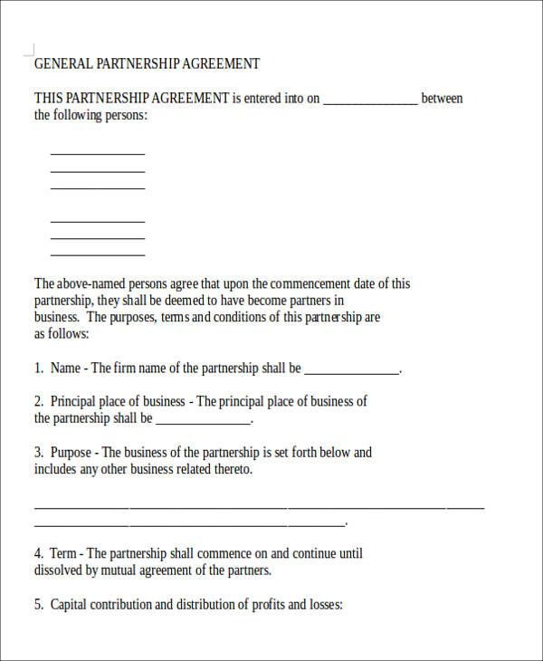 general partnership agreement form5
