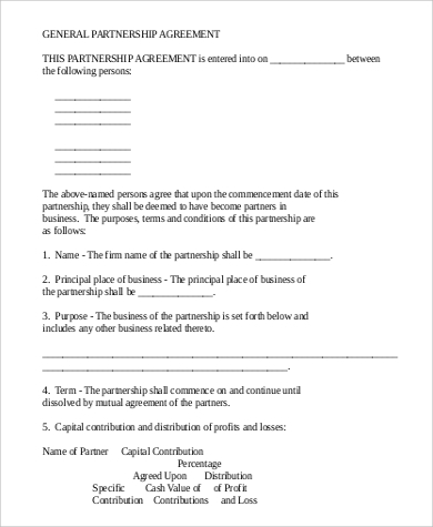 Basic agreements 70 download free documents in pdf word partnership agreement platinumwayz