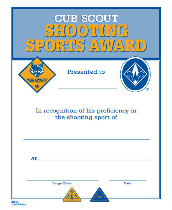 generic sports award certificate2