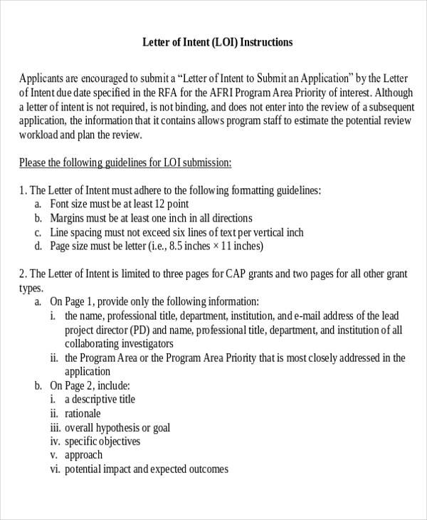Letter of intent grant application format on grant cover letter format, grant reference letter, grant proposal letter,