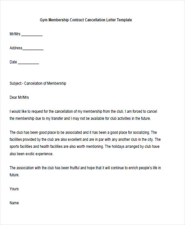 Sample Membership Resignation Letter - 5+ Examples In Pdf, Word