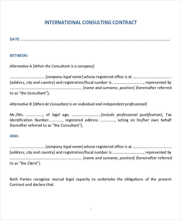 35 Consulting Agreement Examples