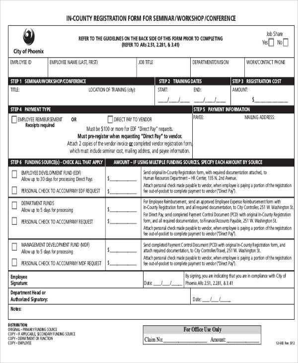 Registration Forms In Pdf