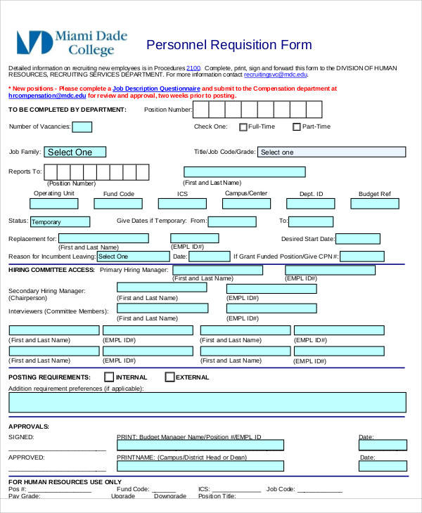 42+ Requisition Form Examples | Sample Templates