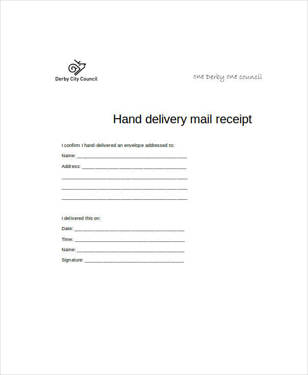hand delivery receipt form1