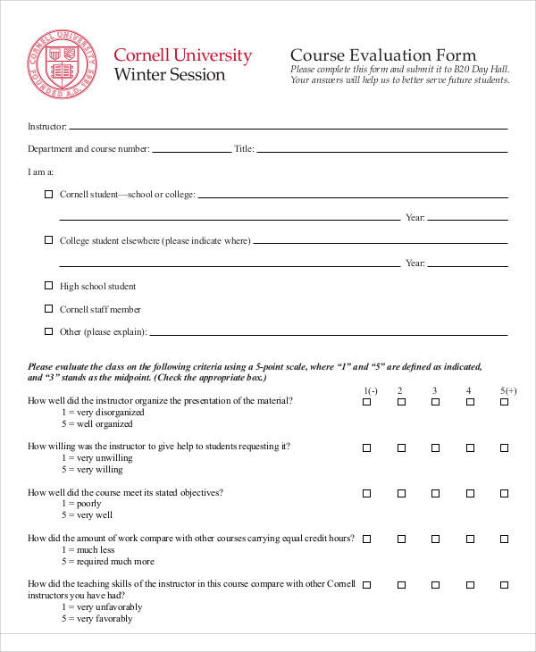 high school course evaluation form1