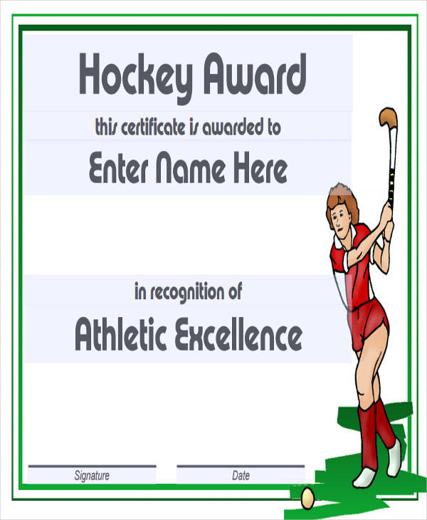 hockey award certificate1