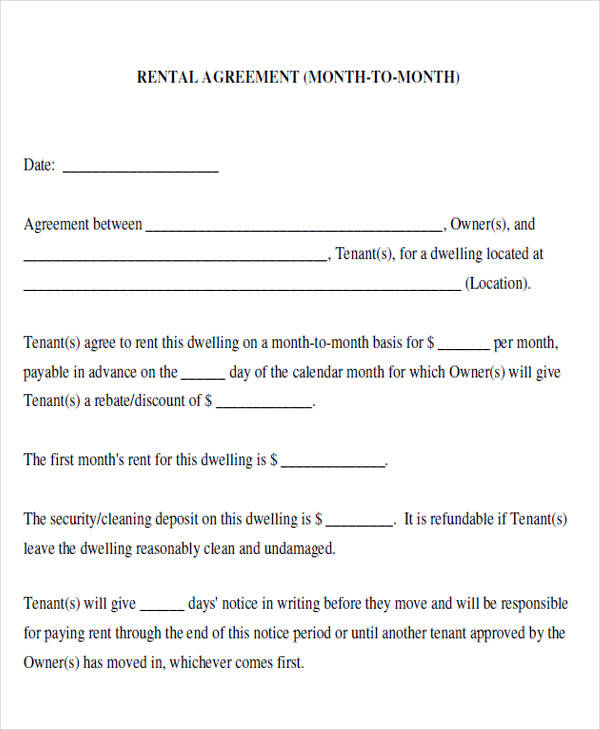 house rent agreement form