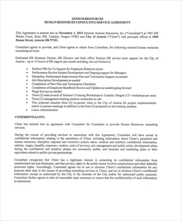 40 consulting agreement samples sample templates for Consultation contract template
