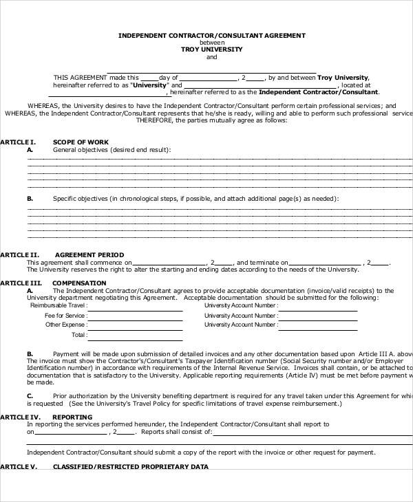 40+ Consulting Agreement Sample