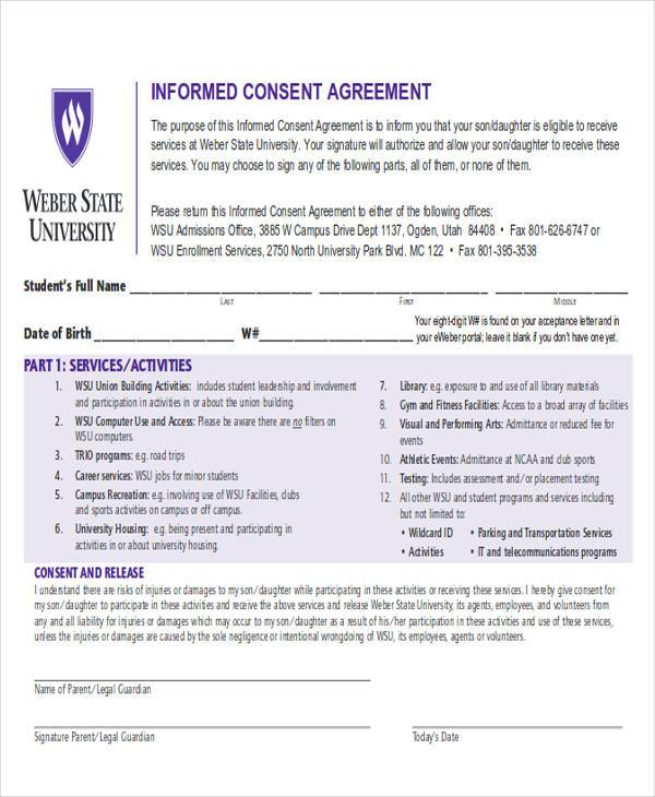 informed consent agreement