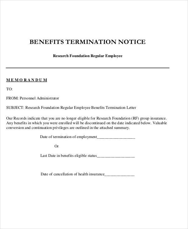 FREE 36+ Examples Of Termination Letter Templates In PDF