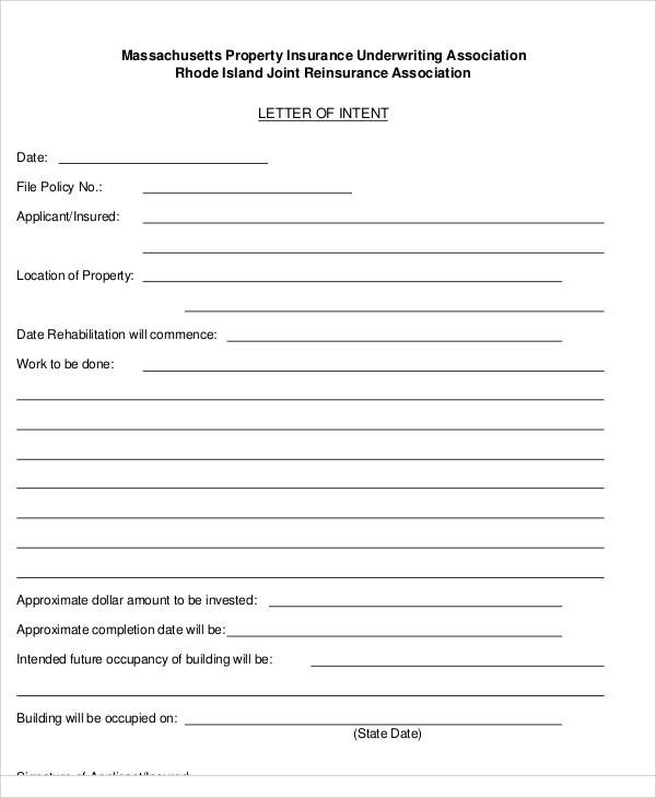 60 Letter Of Intent Examples Pdf Word Pages Google Docs