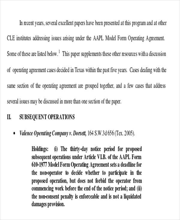 joint operating agreement2