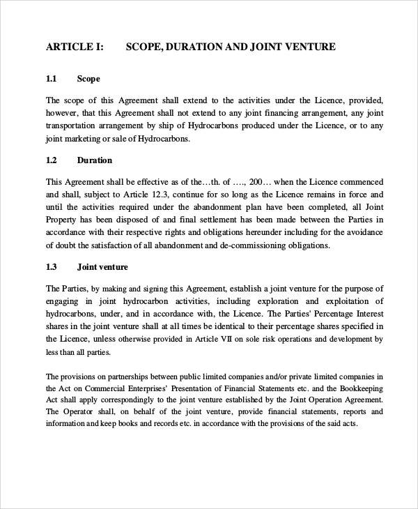 joint operating agreement4